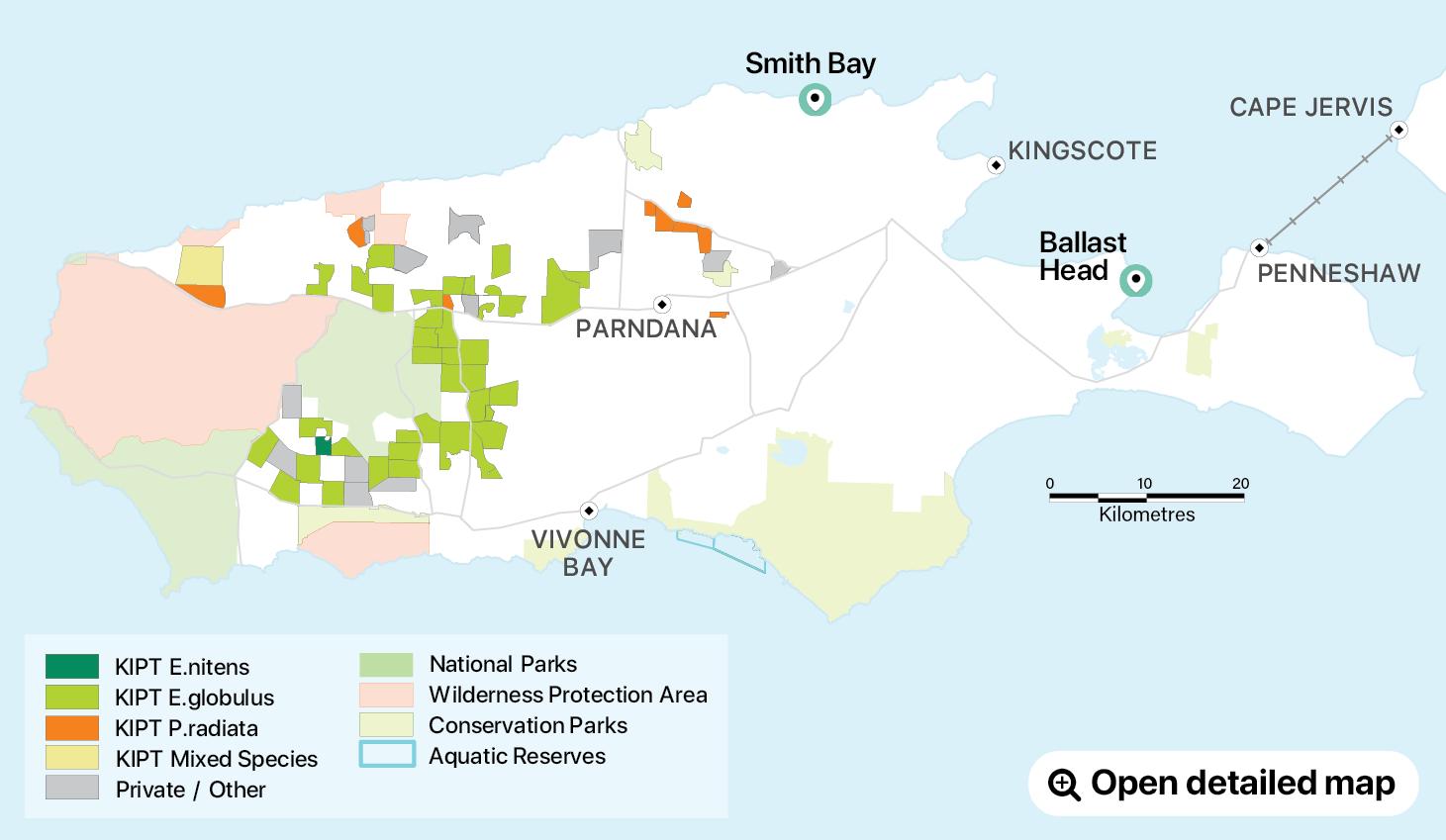 Kangaroo Island Land Use Map